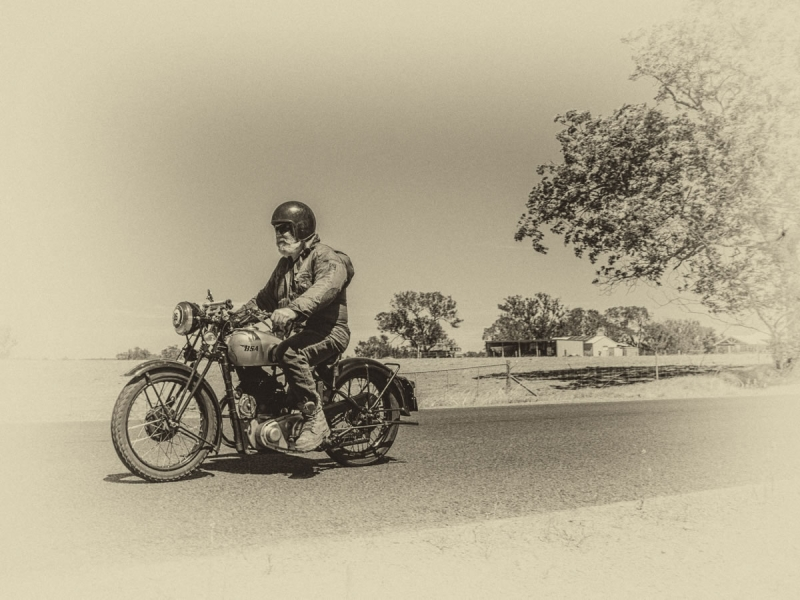 Vintage Motorcycle - After
