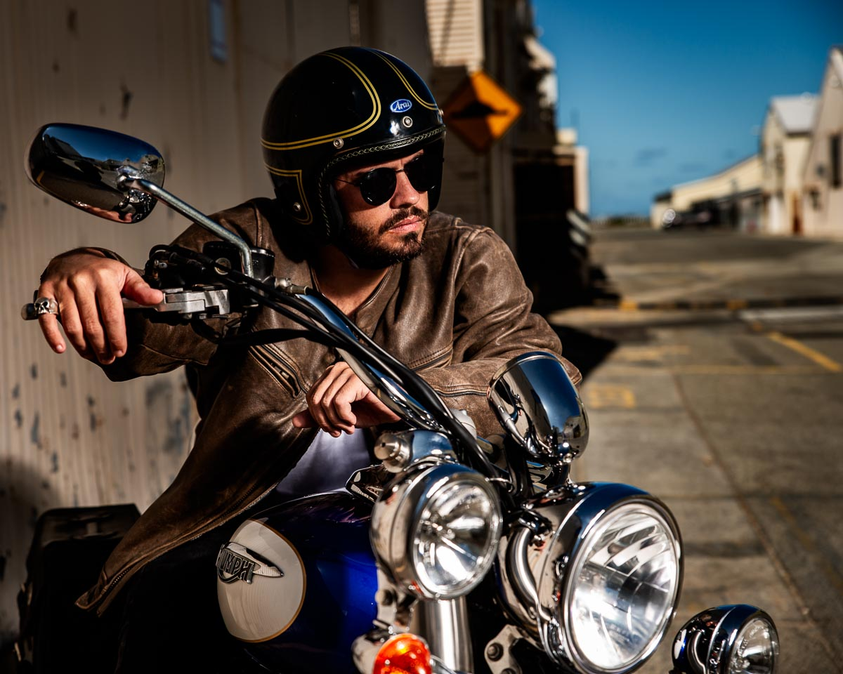 Motorcycle Rider Portrait
