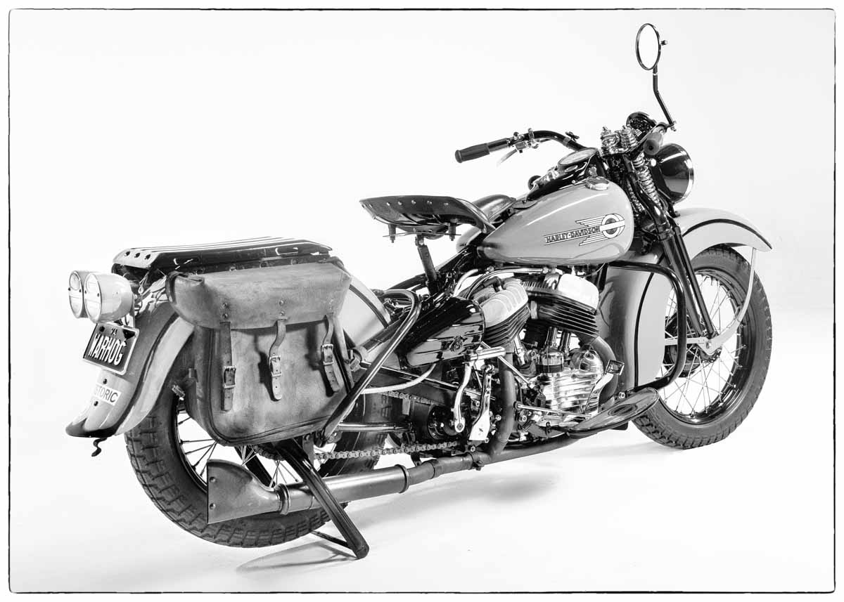 1942 Harley Davidson military motorcycle