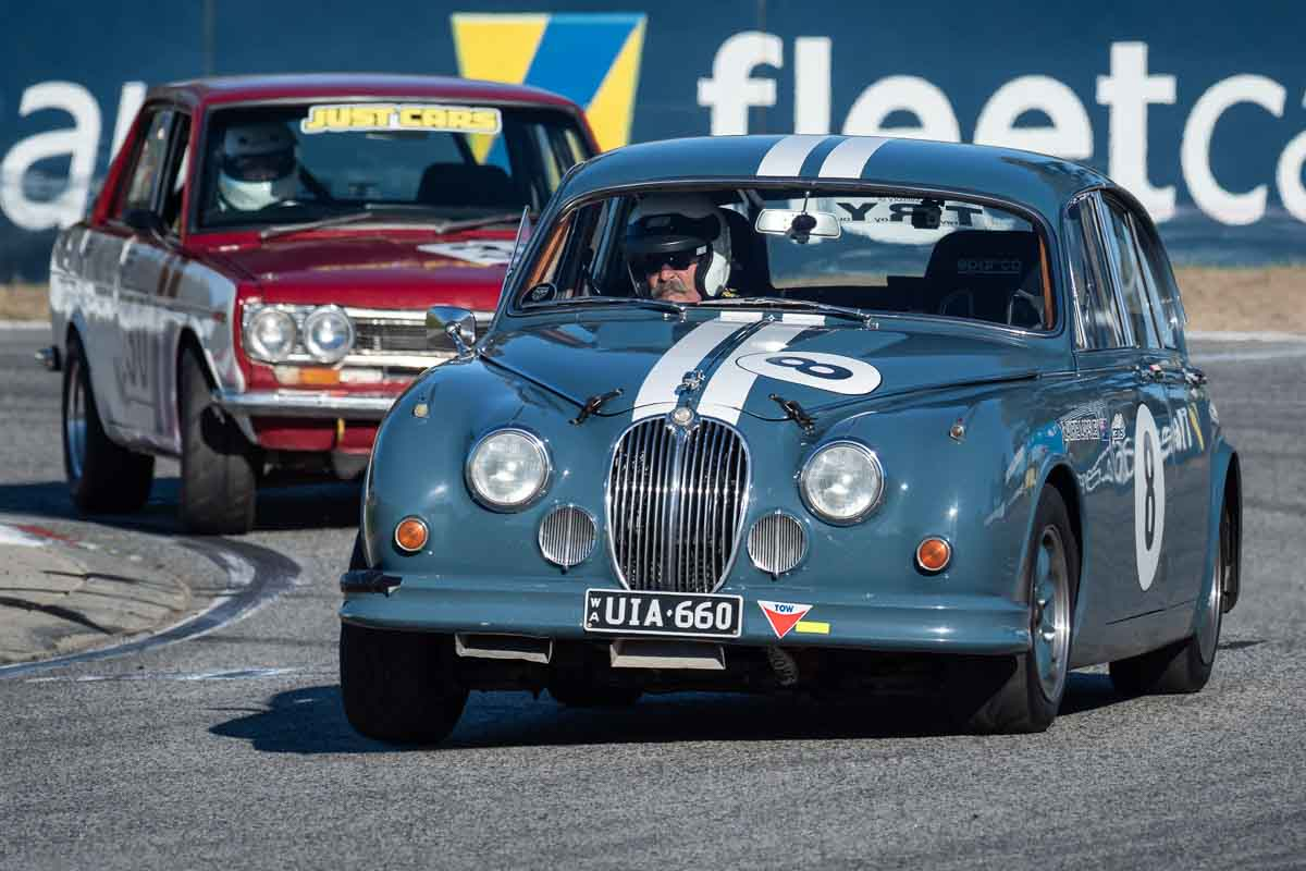 Jaguar Saloon Racing at Barbagello Raceway