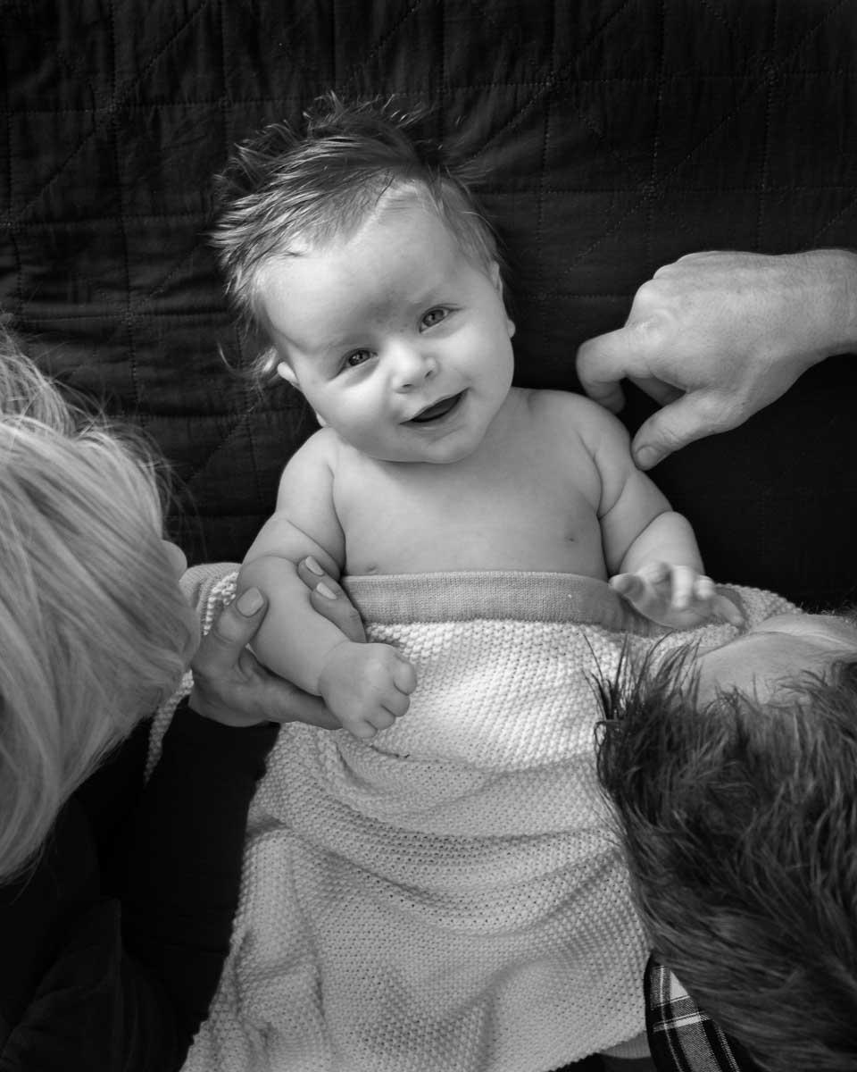 Cute baby portrait of Logan