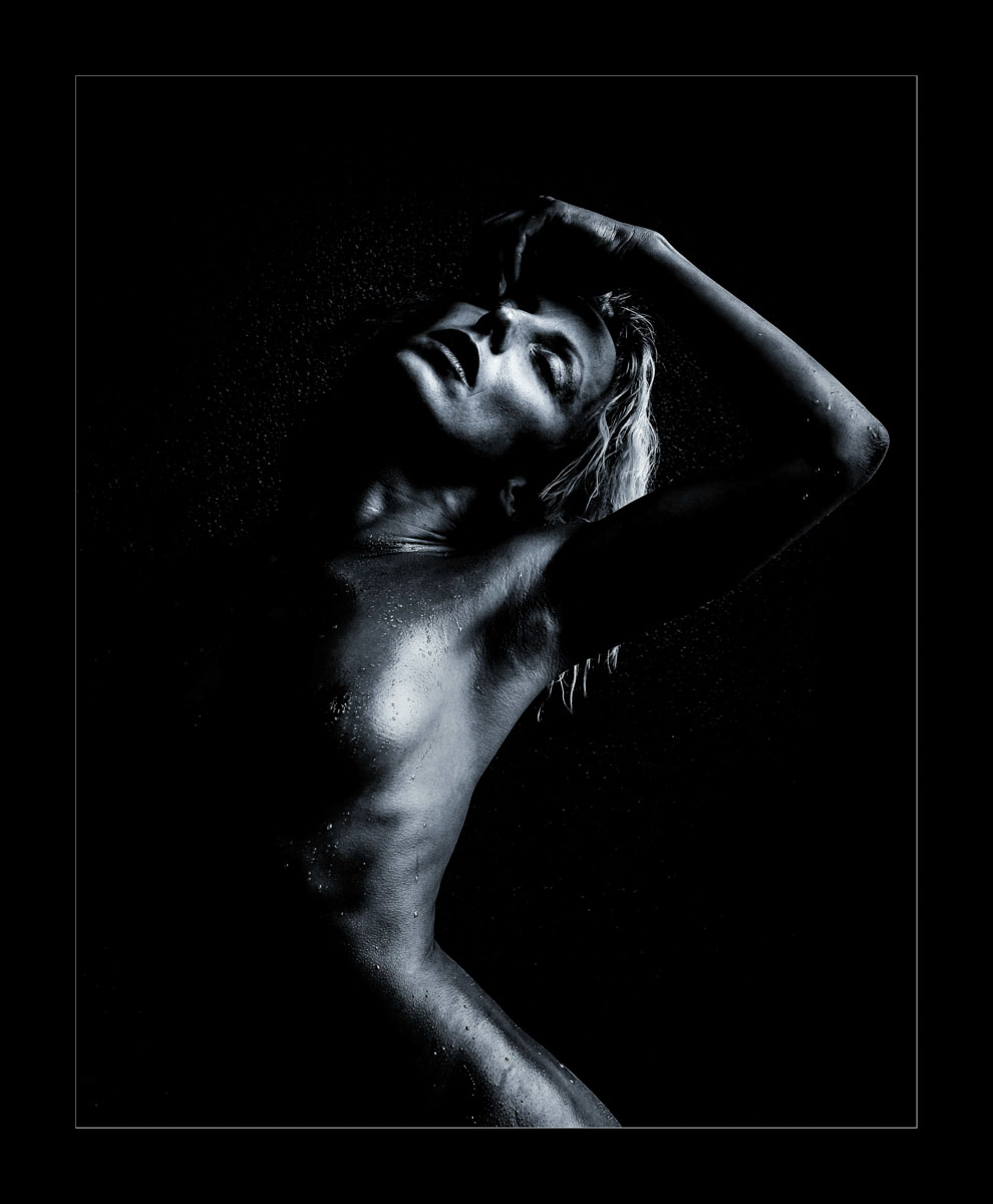 Low Key Fine Art nude boudoir Image of Meika.