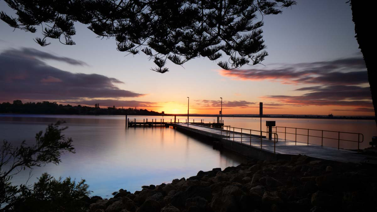 Point Walter Sunriseover the Swan River