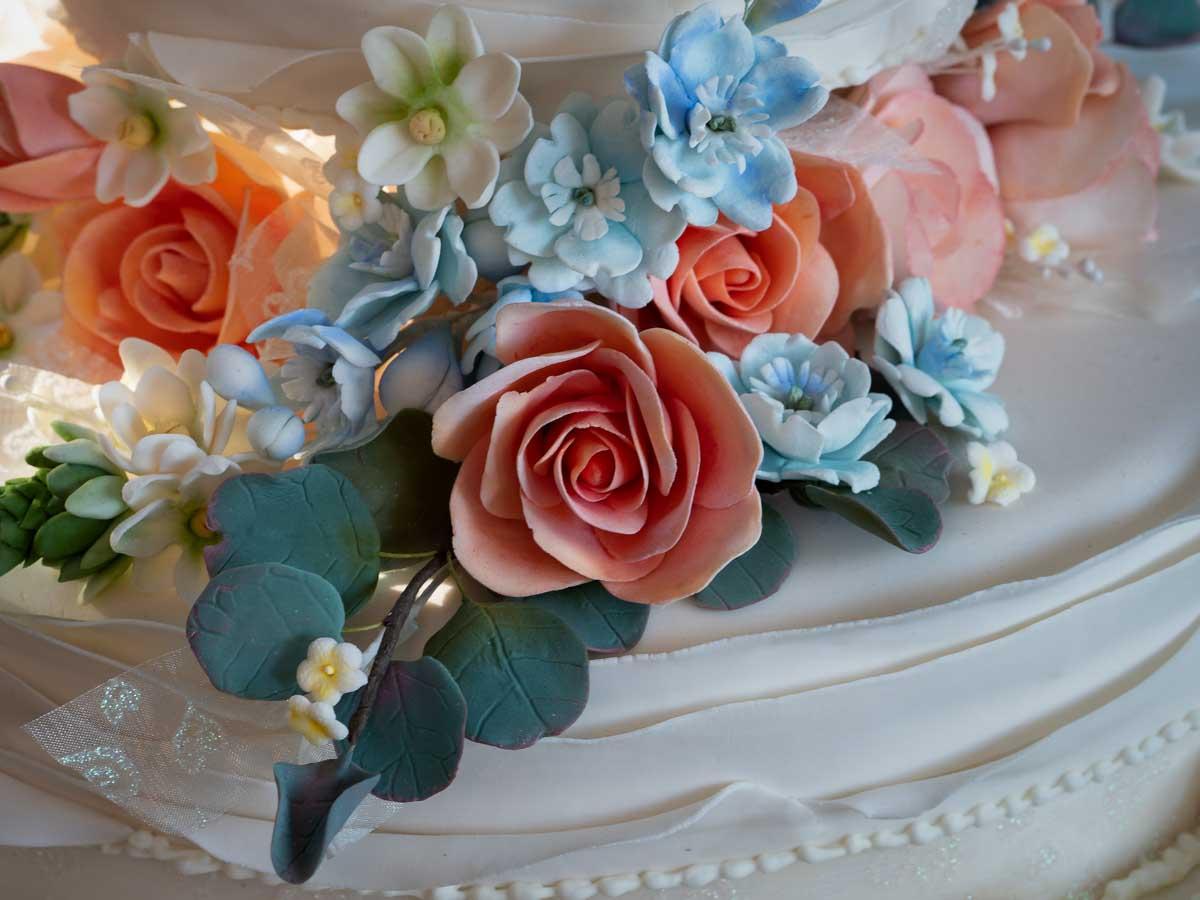 Wedding cake decorations.